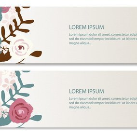 Elegant Floral Banners