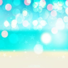 Colorful Beach Bokeh Background