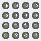 Small 1x business globe icon set