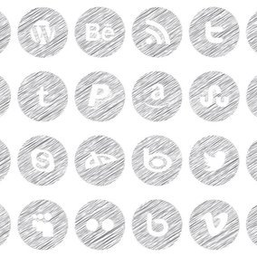 Scribble Style Icon Set