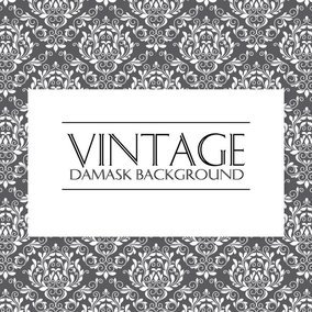 Vintage Damask Pattern Background