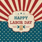 Small 1x happy labor day retro poster