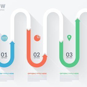 Modern Arrow Infographic Template