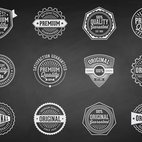 Small 1x chalk retro premium quality badges