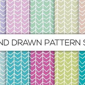 Hand Drawn Style Pattern Set