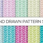 Hand Drawn Style Pattern Set