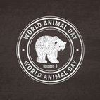 World Animal Day Grunge Stamp