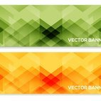 Abstract Polygon Vector Banners
