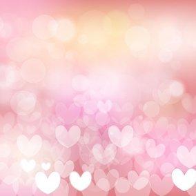Beautiful Abstract Heart Bokeh Background