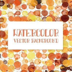 Awesome Watercolor Splatters Vector Background