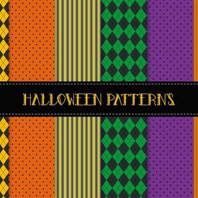 Halloween Seamless Patterns
