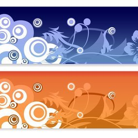 Floral Abstract Vector Banners