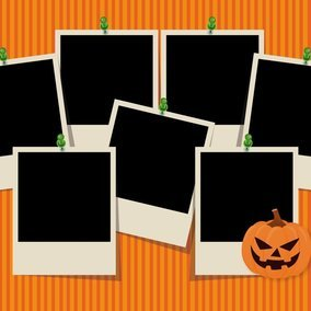 Cute Halloween Photo Collage Template
