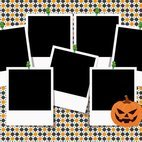 Halloween Photo Collage Template