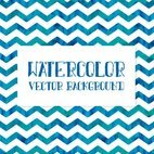 Watercolor Chevron Background