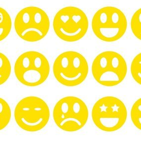 Simple Flat Style Emoticon Collection