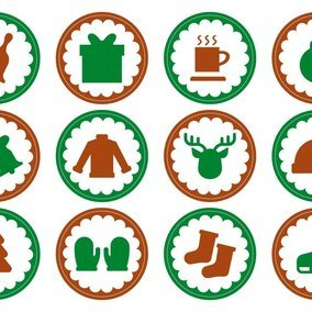 Cute Christmas Stamp Icons