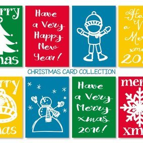 Cute Christmas Mini Card Collection
