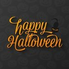 Small 1x happy halloween lettering