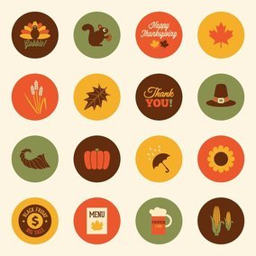 Colorful Autumn Vector Icons