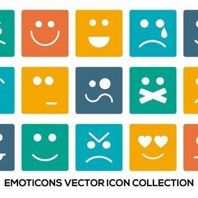 Colorful Emoticon Icon Collection