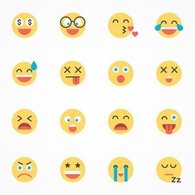 Flat Emoticon Icon Set