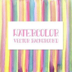Watercolor Stripes Vector Background