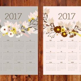 2017 Floral Calendars