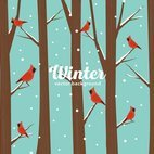 Small 1x winter birds background