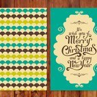 Retro Style Christmas Card
