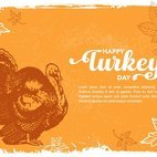 Small 1x happy turkey day greeting card
