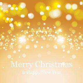 Beautiful Golden Bokeh Christmas Background