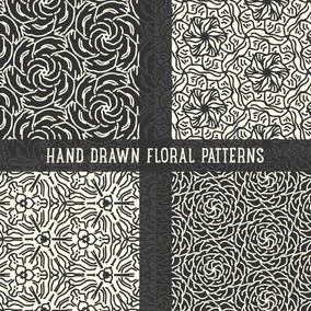Hand Drawn Abstract Flourish Patterns