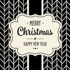 Cute Black and White Christmas Card