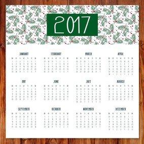 Cute 2017 Christmas Calendar