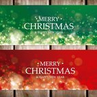 Abstract Christmas Banners