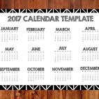 2017 Hand Drawn Style Calendar Template
