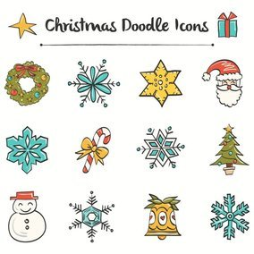 Christmas Doodle Icons
