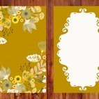 Beautiful Floral Vector Card Template