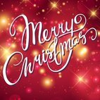 Red Abstract Merry Christmas Background