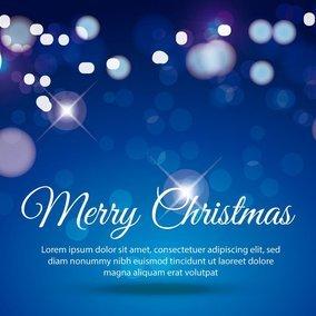 Dark Blue Merry Christmas Illustration