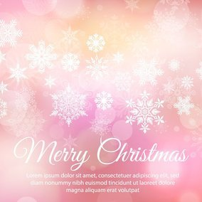 Beautiful Pink Merry Christmas Illustration