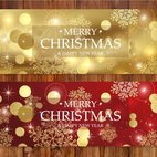Beautiful Gold and Red Abstract Banners