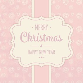 Cute Pink Christmas Card