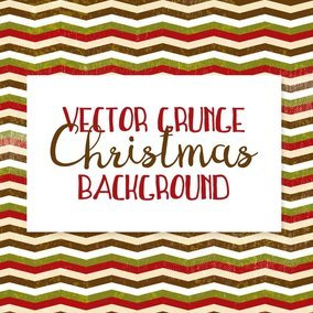 Grunge Christmas Pattern Background