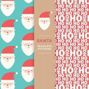 Santa Seamless Patterns