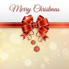 Small 1x elegant merry christmas card