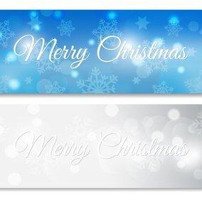 Snowflake Christmas Banners