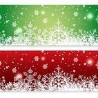 Red and Green Christmas Banners