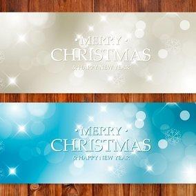 Snowflake Bokeh Christmas Banners